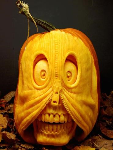 Insanely Talented and Neurotic Pumpkin Carver Is Allergic to Pumpkins