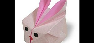 Make an adorable inflatable origami bunny cube