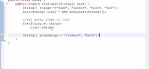 Create collections for Java programming