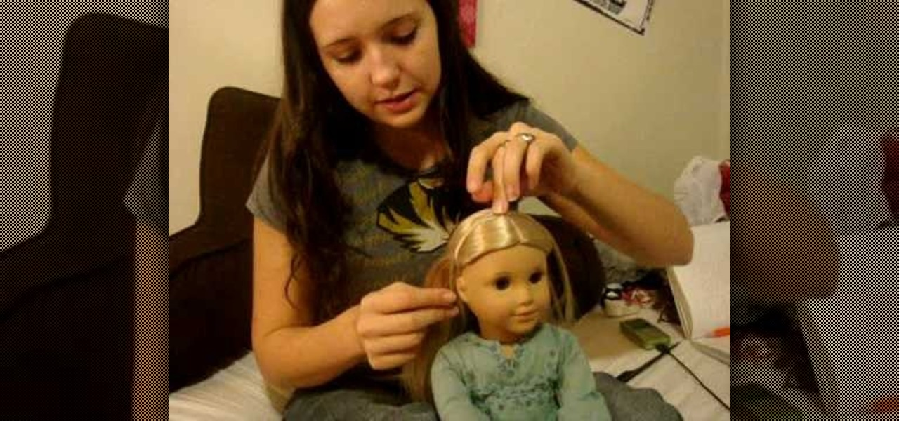 how to do a hair headband on your american girl doll dolls plush miniatures. Black Bedroom Furniture Sets. Home Design Ideas