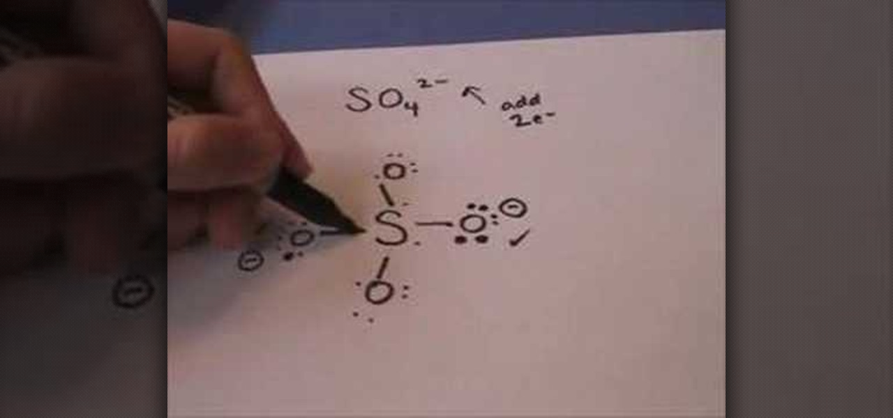 How To Draw The Lewis Dot Structure For Sulfate Science