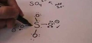 Draw the Lewis dot structure for sulfate
