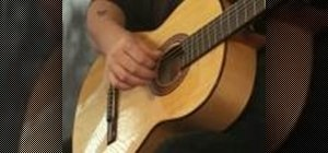 Play three stroke, flamenco style on acoustic guitar