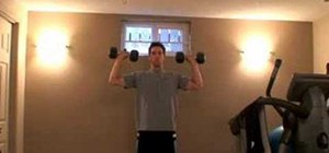 Practice proper form for dumbbell shoulder press