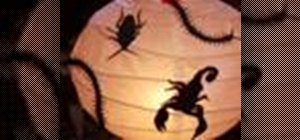 Make a Halloween lamp full of creepy crawly bugs