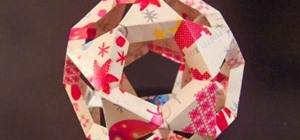 Origami a Paper Christmas Tree Ball