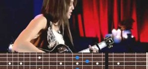 "Learn Miley Cyrus ""Butterfly Fly Away"" guitar chords"
