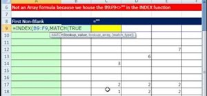 Pull an Excel cell value from the first non-blank row