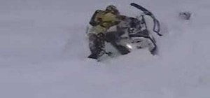 Get your snowmobile unstuck from snow