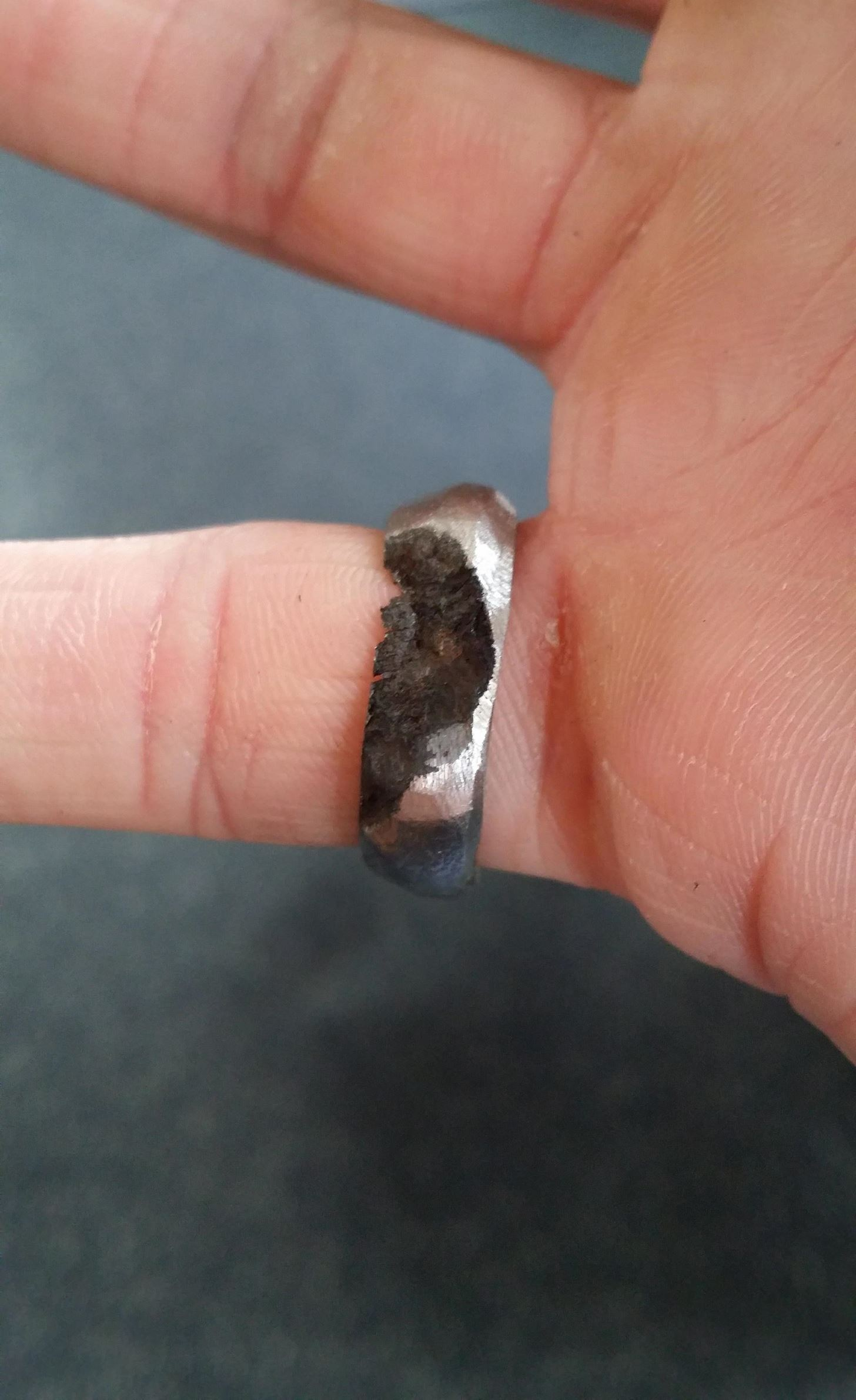 Daring Man Carves Thrifty Engagement Ring Out of Meteorite