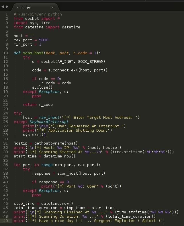 sploit  how to make a python port scanner  u00ab null byte