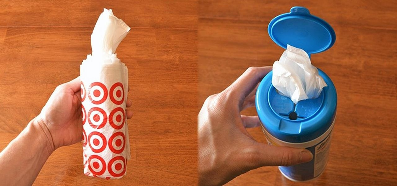 Recycle an Empty Wipes Canister into a Neat & Tidy Plastic Bag Dispenser
