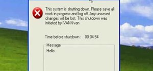 How to Create a fake shutdown virus on Windows « Computer