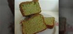 Bake a Japanese green tea sponge cake or Kasutera