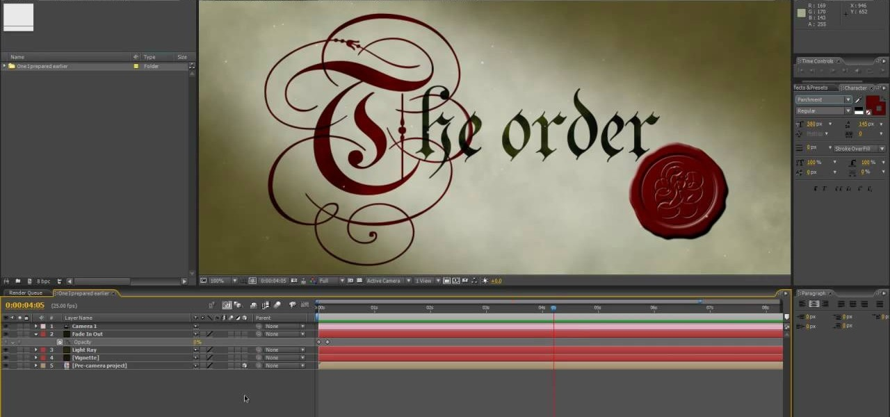 How to Create a medieval Knights Templar styled intro in