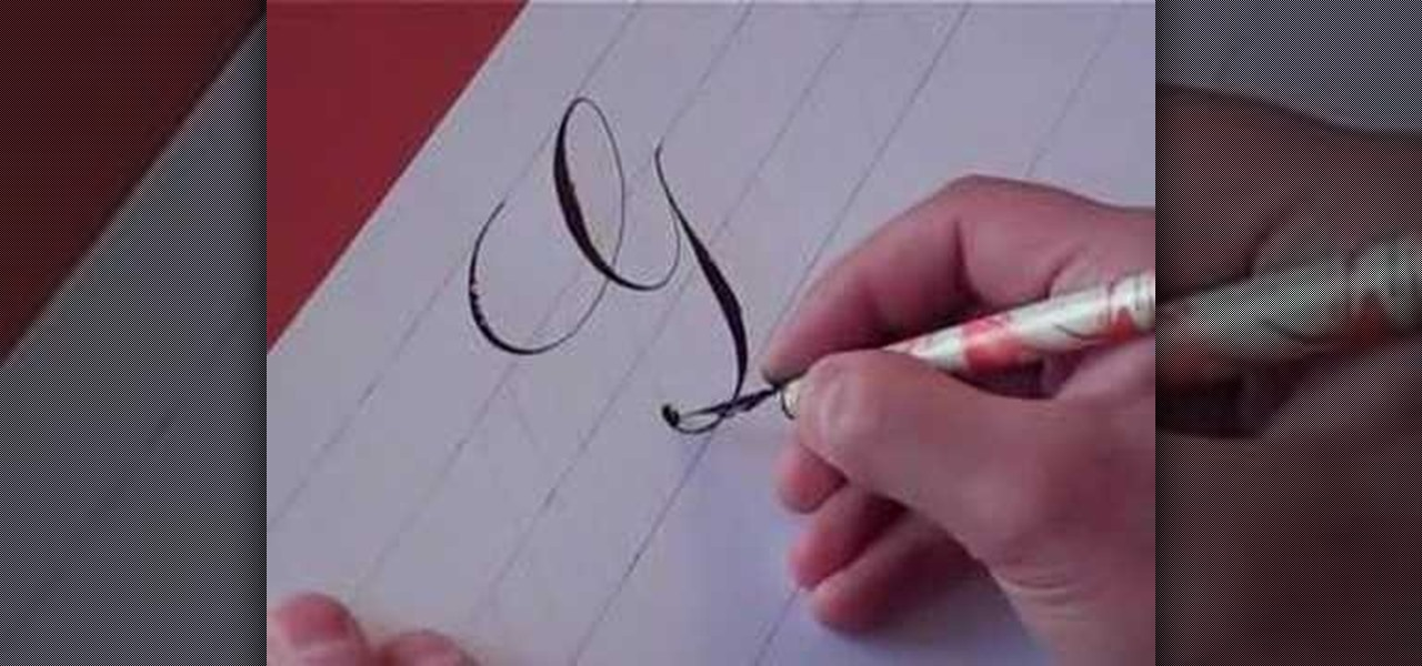 How To Write The Letter G In Calligraphy Copperplate