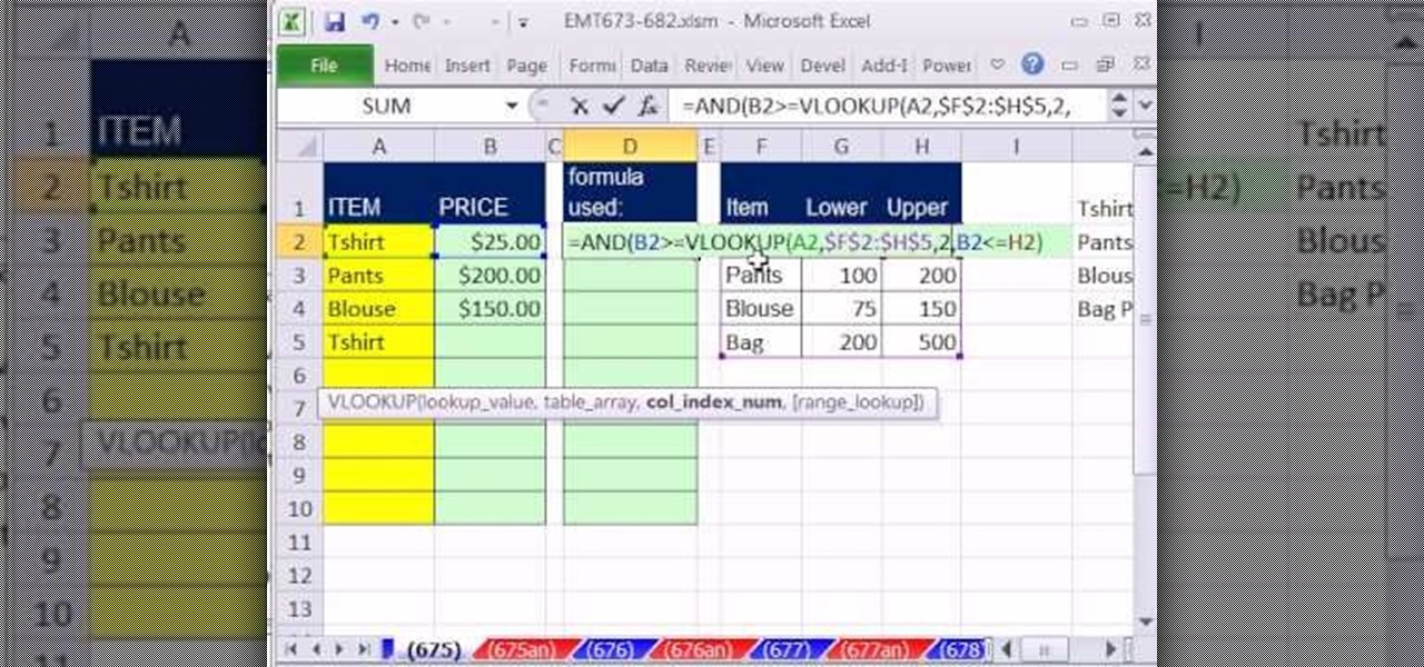 How to validate data with dynamic vlookup functions in excel how to validate data with dynamic vlookup functions in excel microsoft office wonderhowto ibookread Download