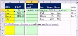 Validate data with dynamic VLOOKUP functions in Excel