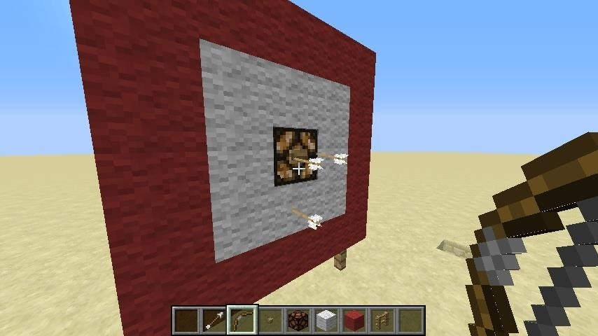 how to build a minecraft target
