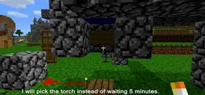 Make a bomb with a five minute timer in Minecraft