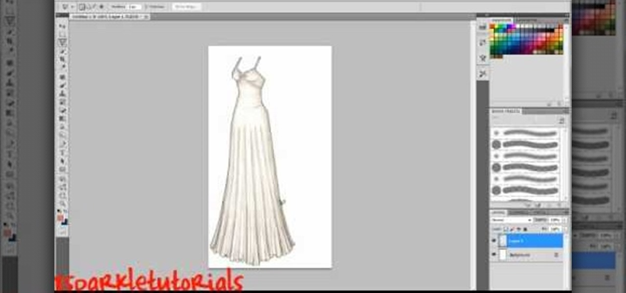 How To Design Clothes In Photoshop Cs5 How to Change a dress colour
