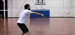 Pass or bump a volleyball