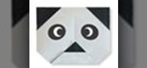 Origami a panda face Japanese style