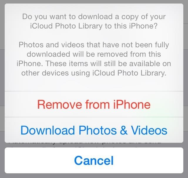 how to delete photos from iphone but keep in icloud