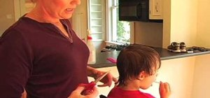 Cut your child's hair at home easily