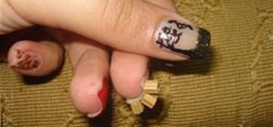 Use a Needle for Cool Nail Art Designs