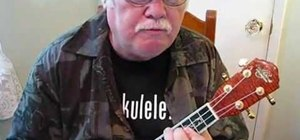 "Play Neil Diamond's ""Forever in Blue Jeans"" on ukulele"