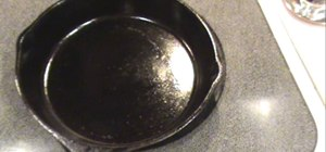 Fix a sticky cast iron pan