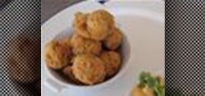 Make a batch of corn and lobster hush puppies