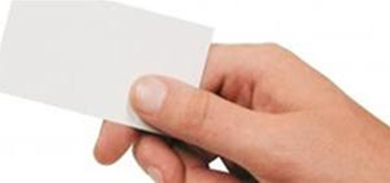 Hand over a magical blank business card « Card Tricks :: WonderHowTo