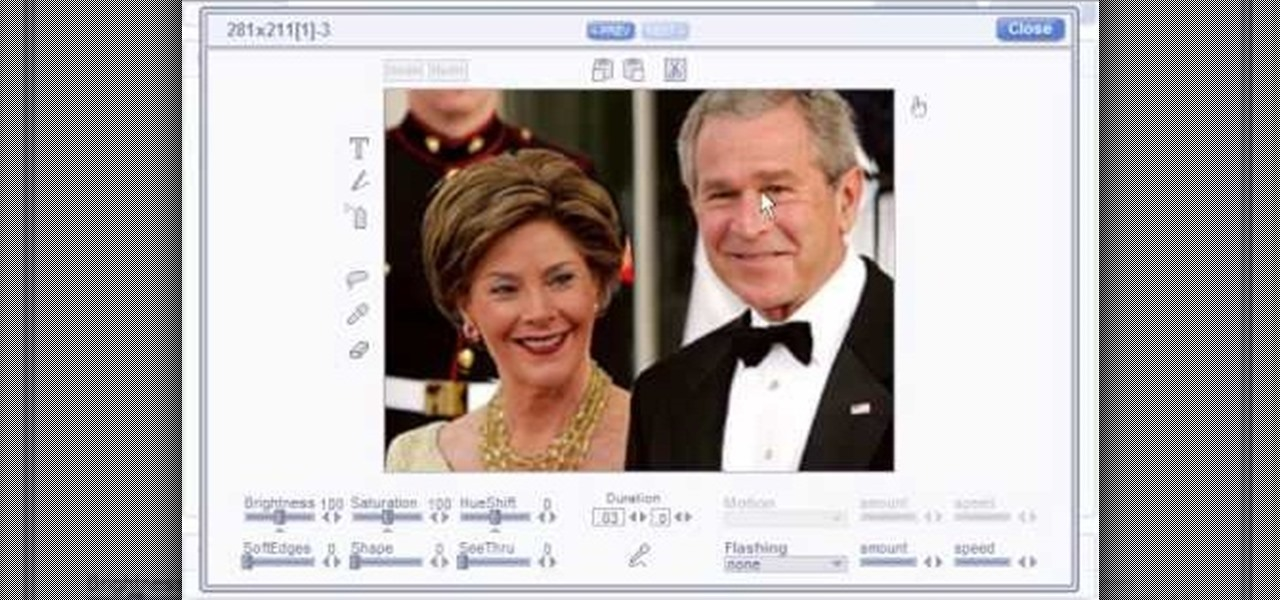 Make Talking Heads of President & Lady Bush