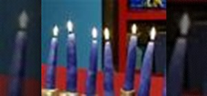 Make homemade Chanukah menorah candles
