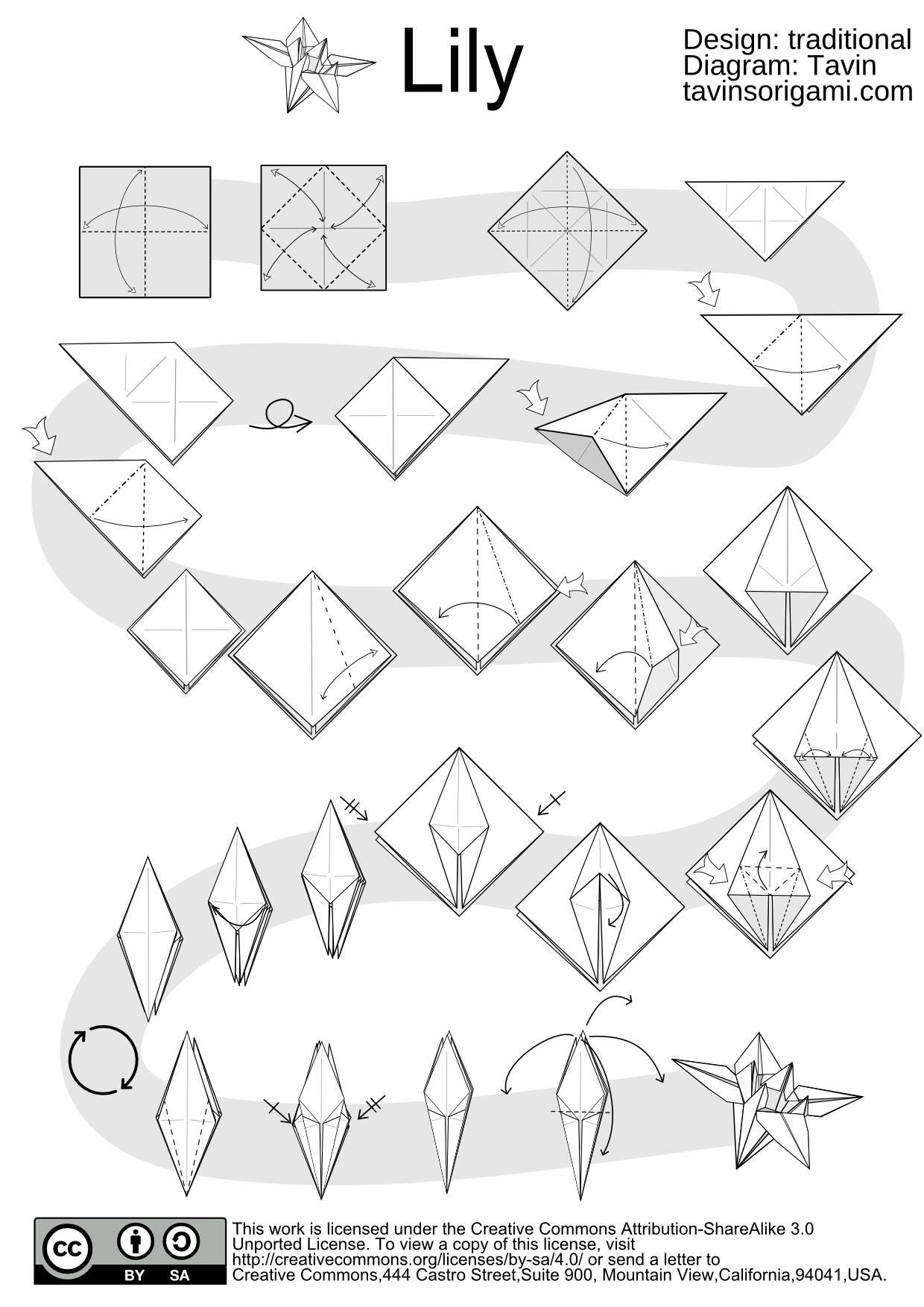 Origami Flower Diagrams Pdf Diy Enthusiasts Wiring Diagrams