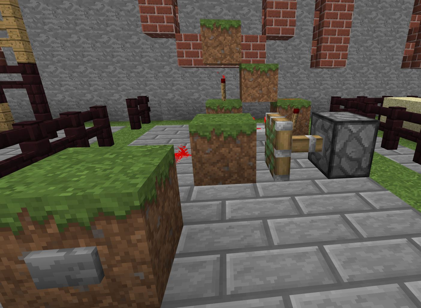 Wonderful image of 20 Tricks You Didn't Know You Could Do in Minecraft « Minecraft with #B41817 color and 1404x1028 pixels