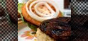 Prepare vegan portobello burgers