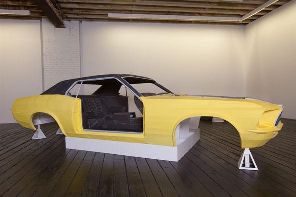 Full Scale 1969 Ford Mustang Recreated in Paper, One Piece at a Time