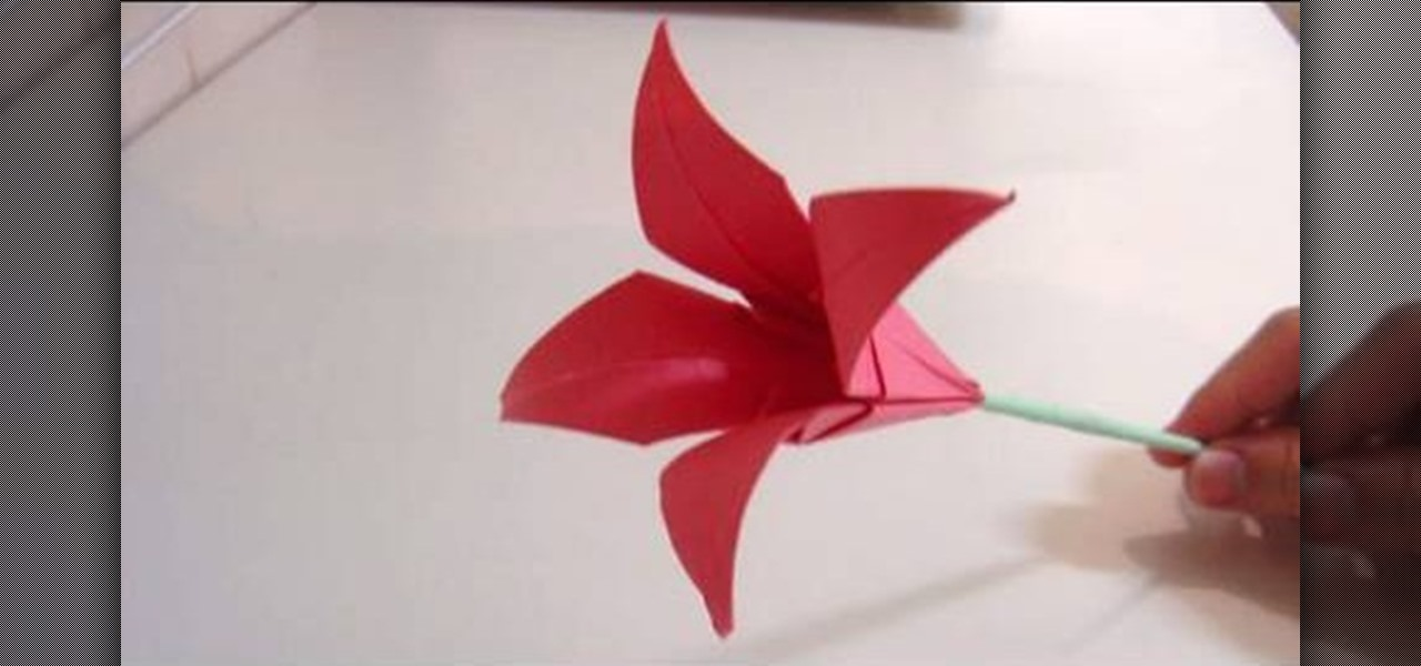 How To Make An Origami Lily Flower WonderHowTo