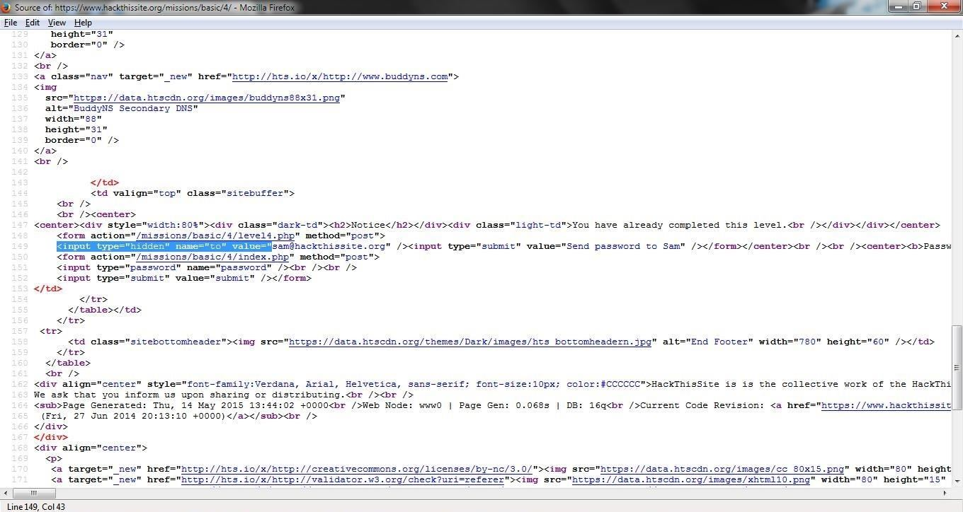 How to Hack a Site Knowing a Bit of HTML (hackthissite org) Part 1