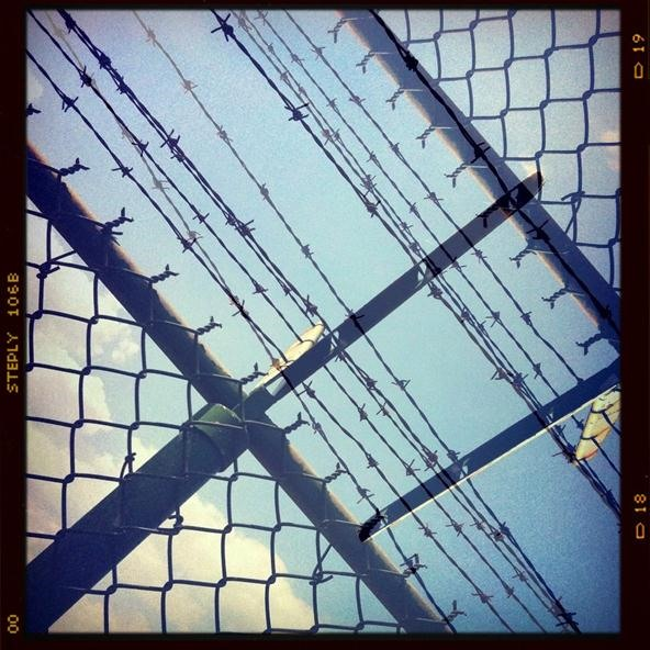 Double Exposure Challenge: Barbed Wire