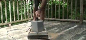 Use a floor sander to sand a deck