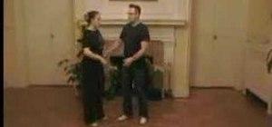 Dance basic Lindy Hop steps