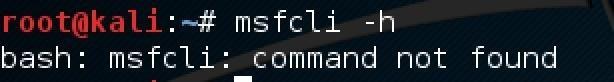 ' Msfcli -H' Doesn't Work in Terminal