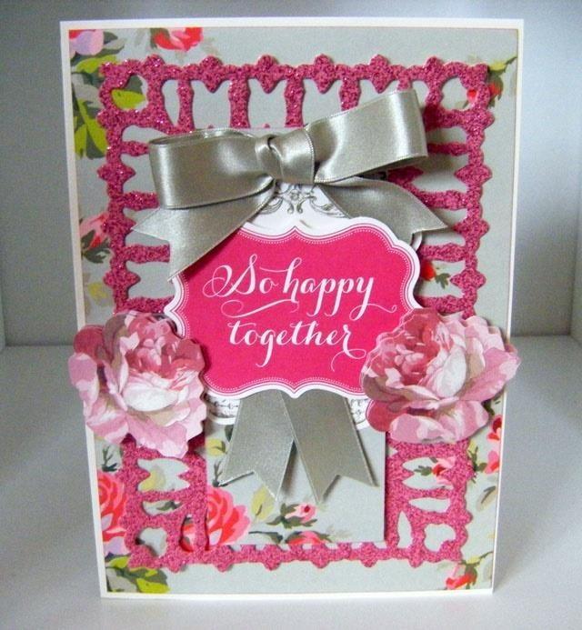 How to Make Glitter Sticker Grace Happy Card