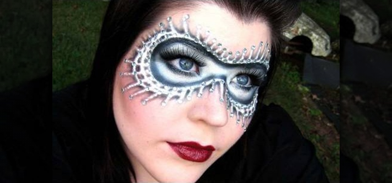 How To Apply A Black White Masquerade Mask With Makeup Makeup