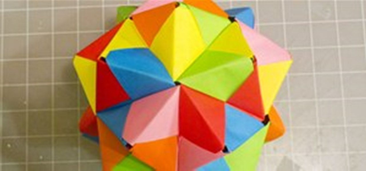 Modular Origami How To Make A Cube Octahedron Icosahedron From Sonobe Units Math Craft WonderHowTo