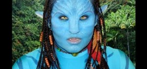"Create an ""Avatar"" Neytiri Na'vi makeup look for Halloween"